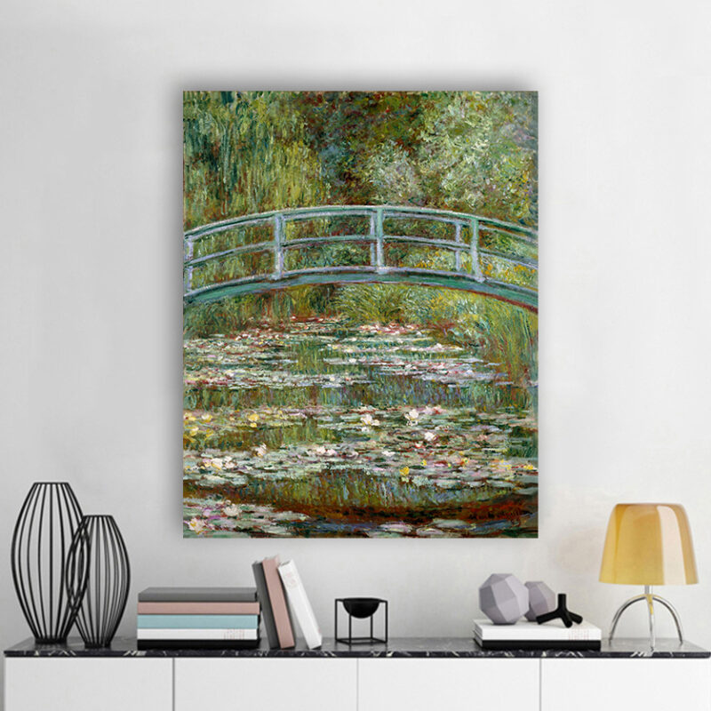 Πίνακας ζωγραφικής Bridge over a Pond of Water Lilies Monet