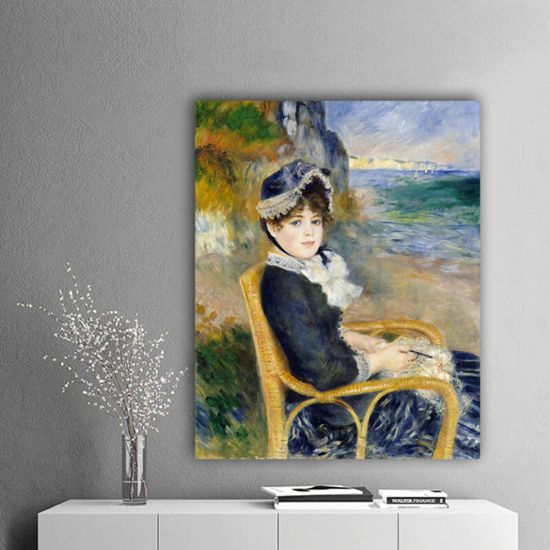 Πίνακας ζωγραφικής By the seashore Pierre Auguste Renoir