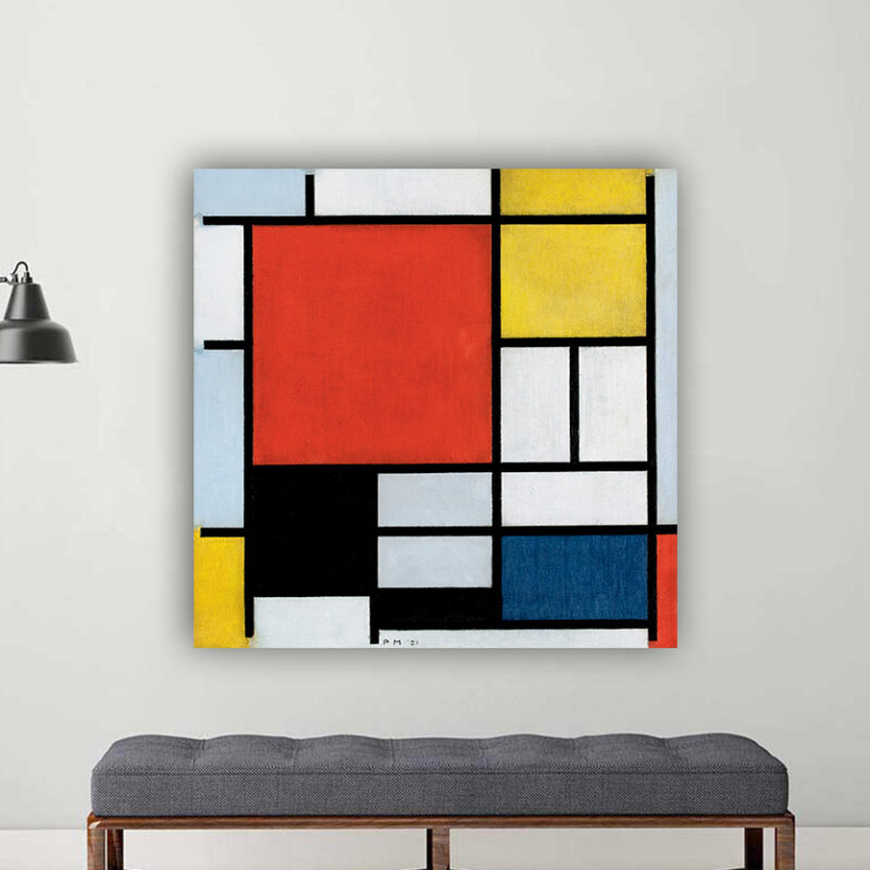 Πίνακας ζωγραφικής Composition with Large Blue Plane Red Black Yellow Piet Mondrian.