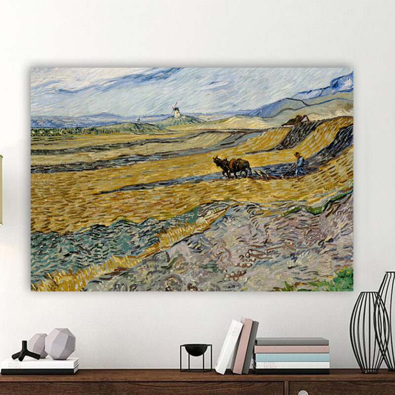 Πίνακας ζωγραφικής Enclosed Field with Ploughman Van Gogh