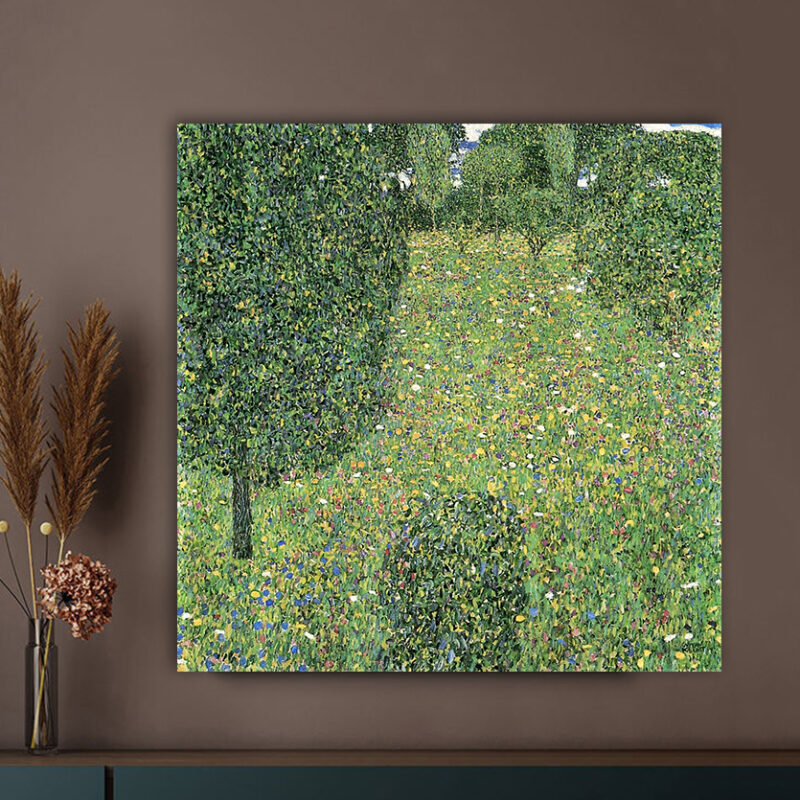 Πίνακας ζωγραφικής Landscape Garden Meadow in Flower Klimt